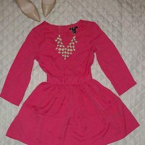 Quarter-Sleeve Skater Dress